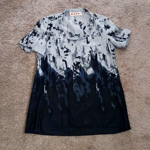 MARNI | Luxe cotton top with abstract print